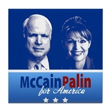 McCain Palin for America Tile Coaster