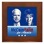 McCain Palin for America Framed Tile