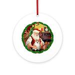Santa2F/ Pomeranian 1 Ornament (Round)