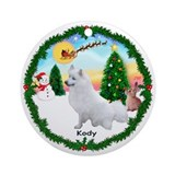 TakeOff1W/with KODY, a CUSTOM Ornament (Round)