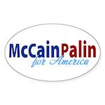 McCain Palin for America Oval Sticker