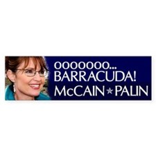 Sarah Palin - ooooo Barracuda Bumper Sticker