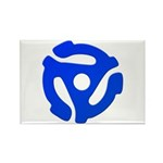 Blue 45 RPM Adapter Rectangle Magnet (10 pack)