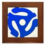 Blue 45 RPM Adapter Framed Tile