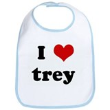 I Love trey Bib