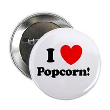 "I Love Popcorn 2.25"" Button"