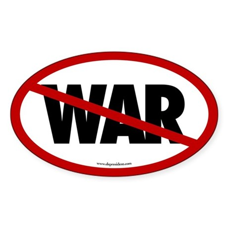 No War Oval Sticker