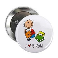 "I Love to Read! 2.25"" Button (10 pack)"