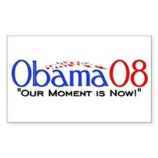 """""""Obama Now"""" Rectangle Decal"""