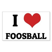 I Love Foosball Rectangle Decal