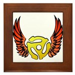Red Winged 45 RPM Adapter Framed Tile