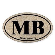 Miami Beach MB Euro Oval Oval Decal