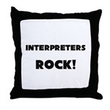 Interpreters ROCK Throw Pillow