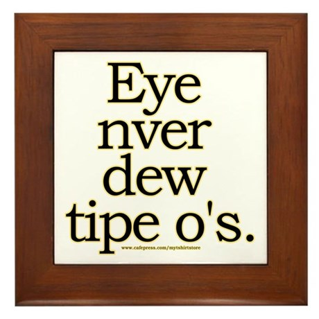 Funny typo joke framed tile by mytshirtstore for Living room joke