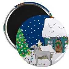 "Christmas Lights Weimaraner 2.25"" Magnet (10 pack)"