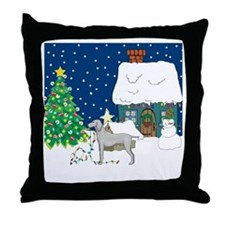 Christmas Lights Weimaraner Throw Pillow