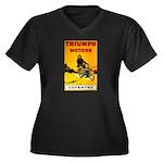 Triumph 1923 Women's Plus Size V-Neck Dark T-Shirt