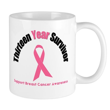 13 Year Breast Cancer Survivor Mug