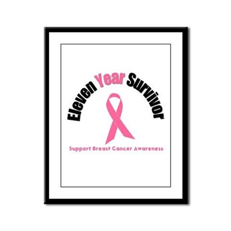 11 Year Breast Cancer Survivor Framed Panel Print