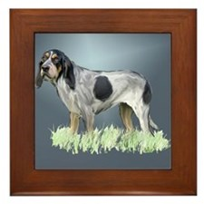 bluetick coonhound Framed Tile