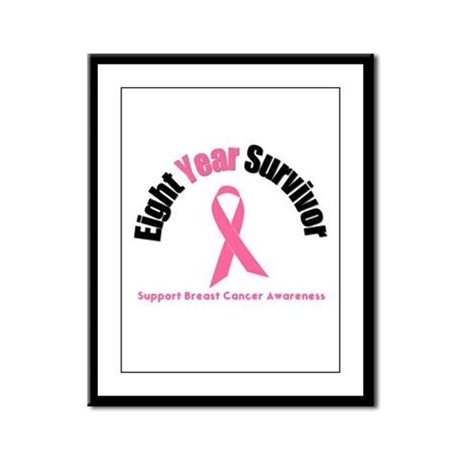 8 Year Breast Cancer Survivor Framed Panel Print