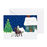 Chocolate christmas card Greeting Cards (20 Pack)