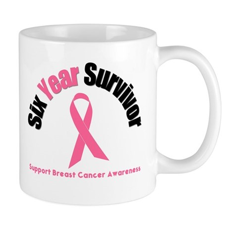 6 Year Breast Cancer Survivor Mug