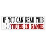 In Range Bumper Car Sticker