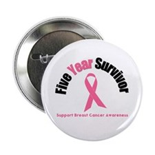"5 Year Breast Cancer Survivor 2.25"" Button"
