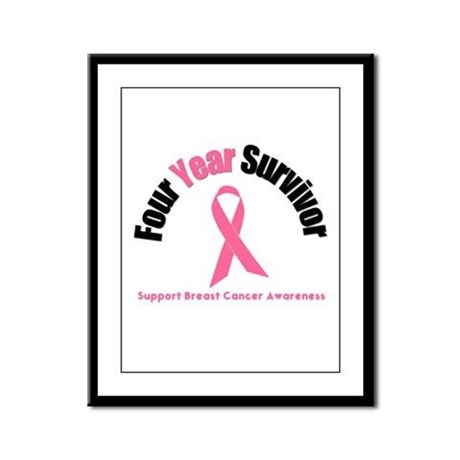 4 Year Breast Cancer Survivor Framed Panel Print