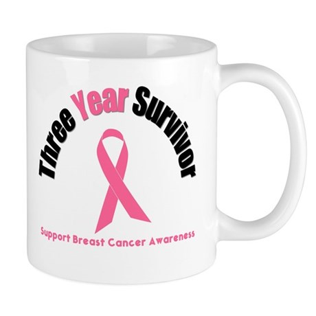 3 Year Breast Cancer Survivor Mug