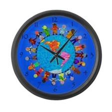Children around the World Large Wall Clock