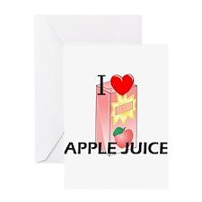 I Love Apple Juice Greeting Card