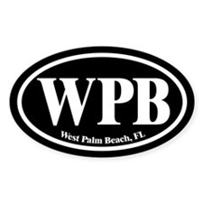 West Palm Beach WPB Euro Oval Oval Decal