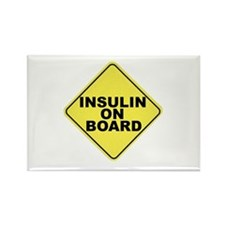 Insulin on board Rectangle Magnet