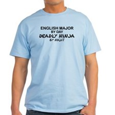 English Major Deadly Ninja by Night T-Shirt