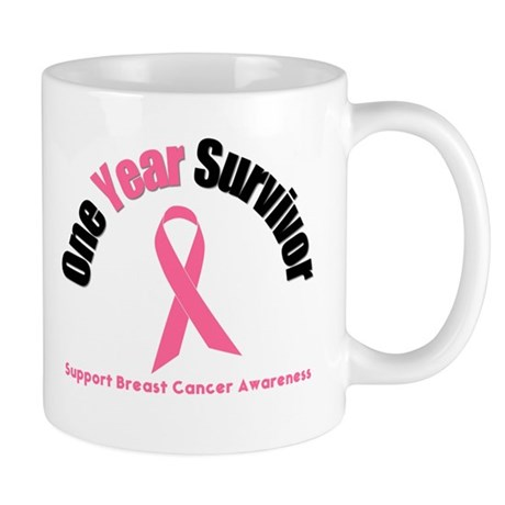 1 Year Breast Cancer Survivor Mug