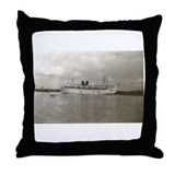 South American Passenger Liner Throw Pillow