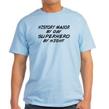 History Major Superhero by Night T-Shirt