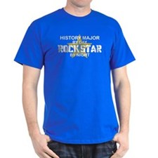 History Major Rock Star by Night T-Shirt