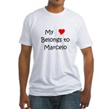 Cute My heart belongs to marcelo Shirt