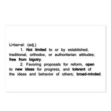 The Definition of a Liberal Postcards (Package of