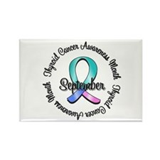 Thyroid Cancer Month Rectangle Magnet