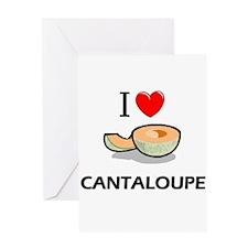 I Love Cantaloupe Greeting Card