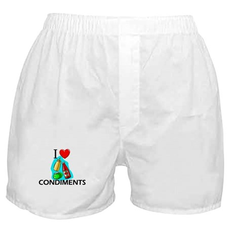 I Love Condiments Boxer Shorts