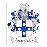 Franceschini Family Crest Small Poster
