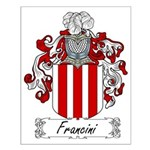 Francini Family Crest Small Poster