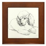 Poodle Framed Tile