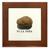 Vi La Papa: Framed Tile