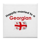 Happily Married Georgian Tile Coaster